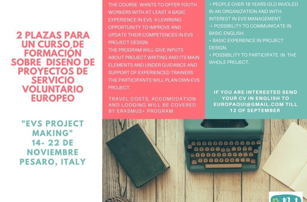 "2 plazas para el curso ""EVS project making"""