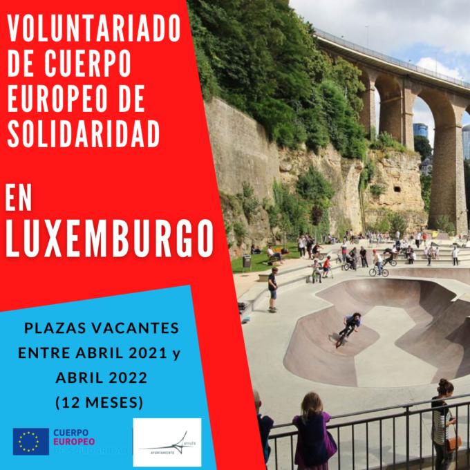 ¡Nueva oferta de voluntariado CES en Luxemburgo!